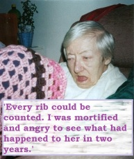 Eighteen months into her stay at the nursing home for EMI 2000.